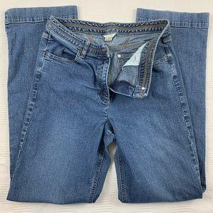 Christopher & Banks straight leg blue jeans 8